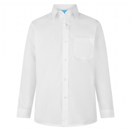 Boys White Long Sleeve Shirt - Twin Pack